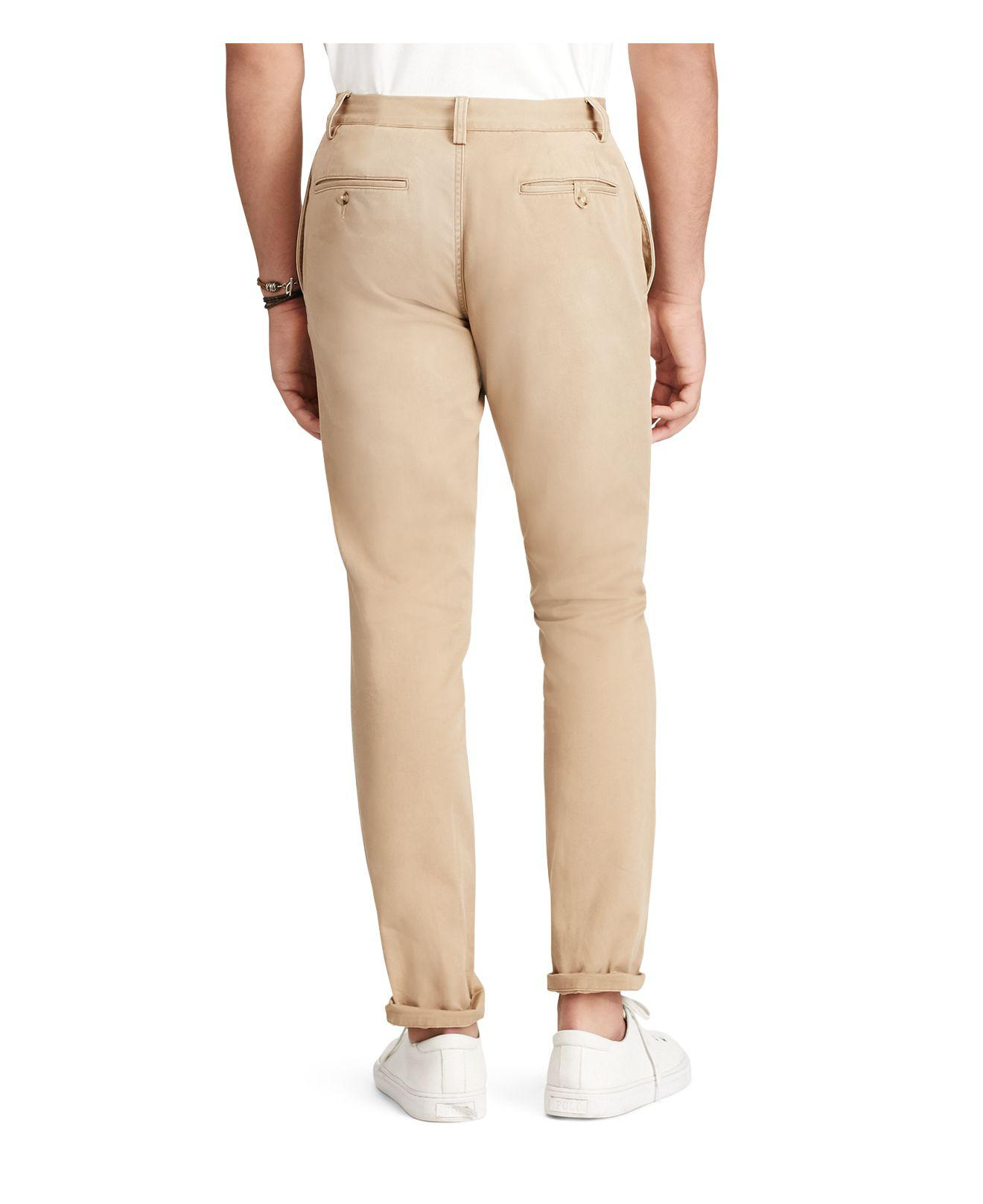 f966814d9c Polo Ralph Lauren Natural Straight Fit Selvedge Chino Pants for men