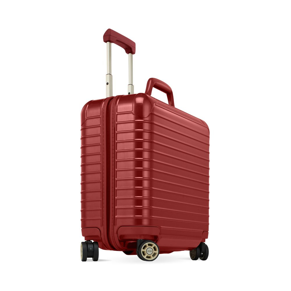 Rimowa salsa deluxe business multiwheel in red lyst for Rimowa salsa deluxe hybrid iata cabin multiwheel