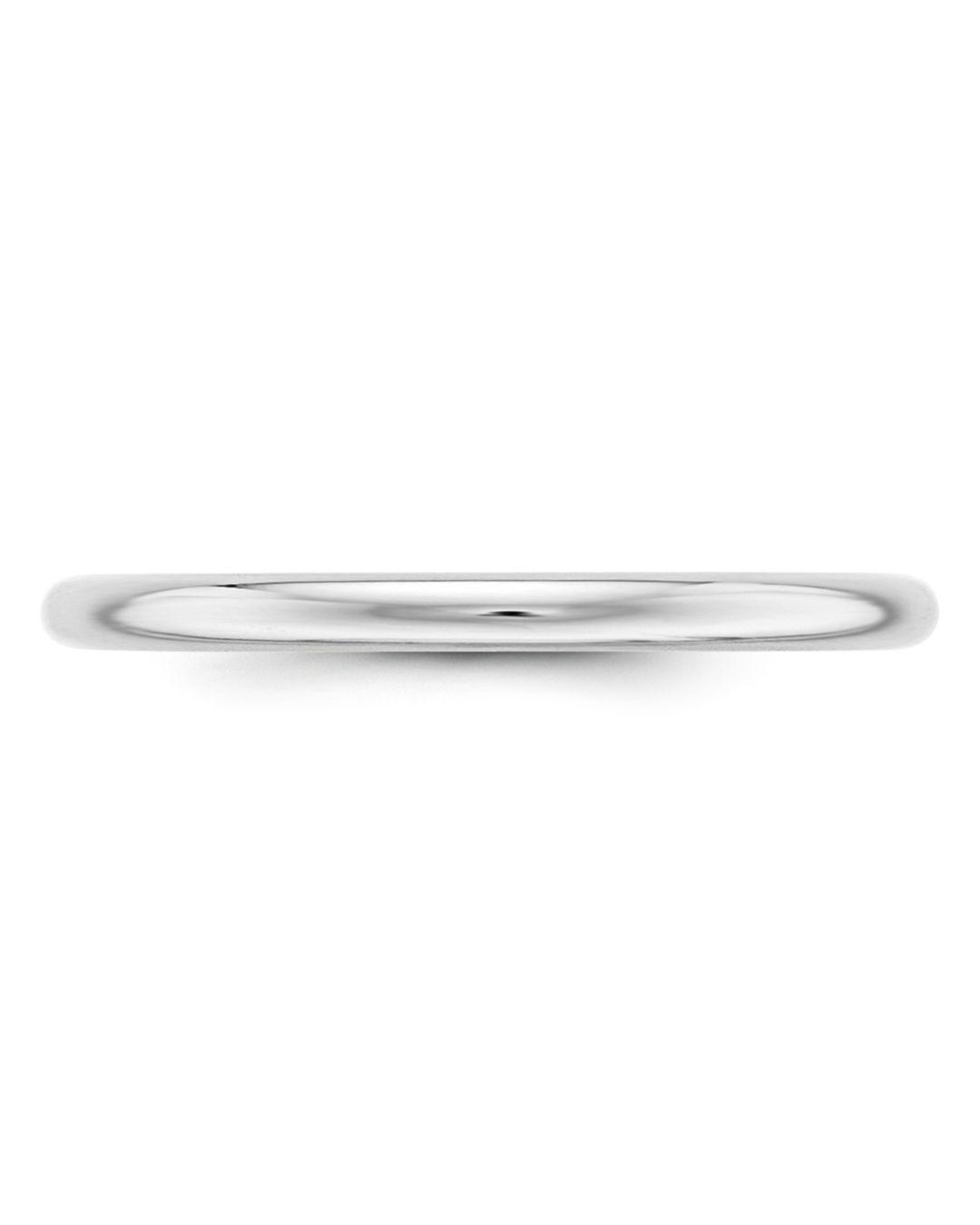 Bloomingdale's Men's 2mm Half Round Band Ring In 14k White Gold for Men