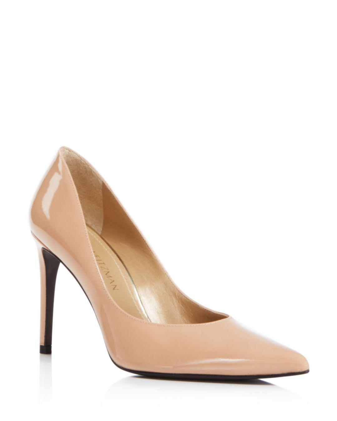 11dc085c24b Lyst - Stuart Weitzman Legend Patent Leather High-heel Pointed Toe ...