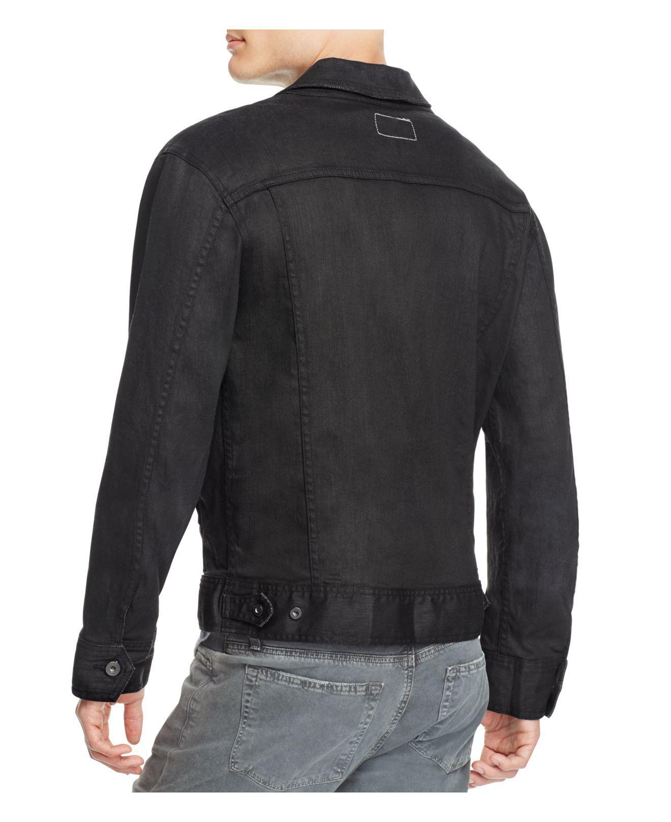Rag & Bone Denim Jean Jacket in Black for Men