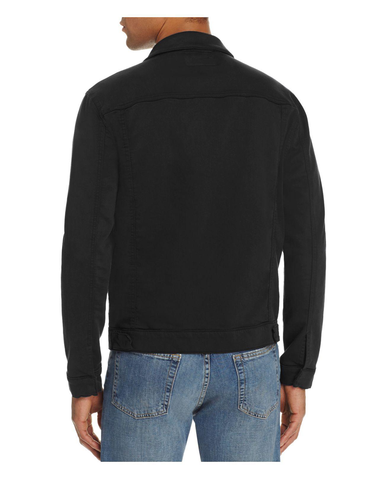 J Brand Gorn Trucker Jacket in Black for Men