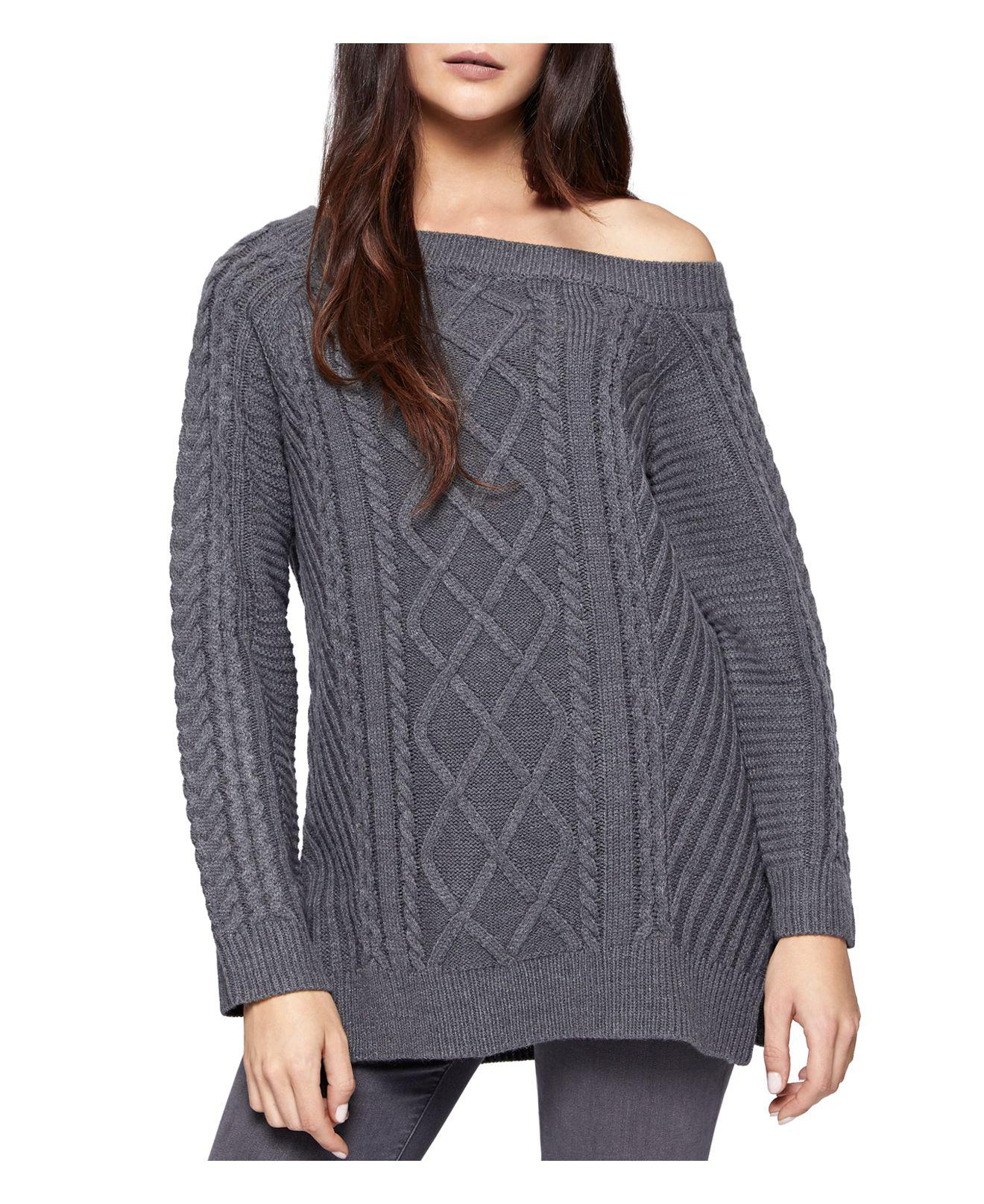 Sanctuary Tinsley Off-the-shoulder Sweater in Gray | Lyst