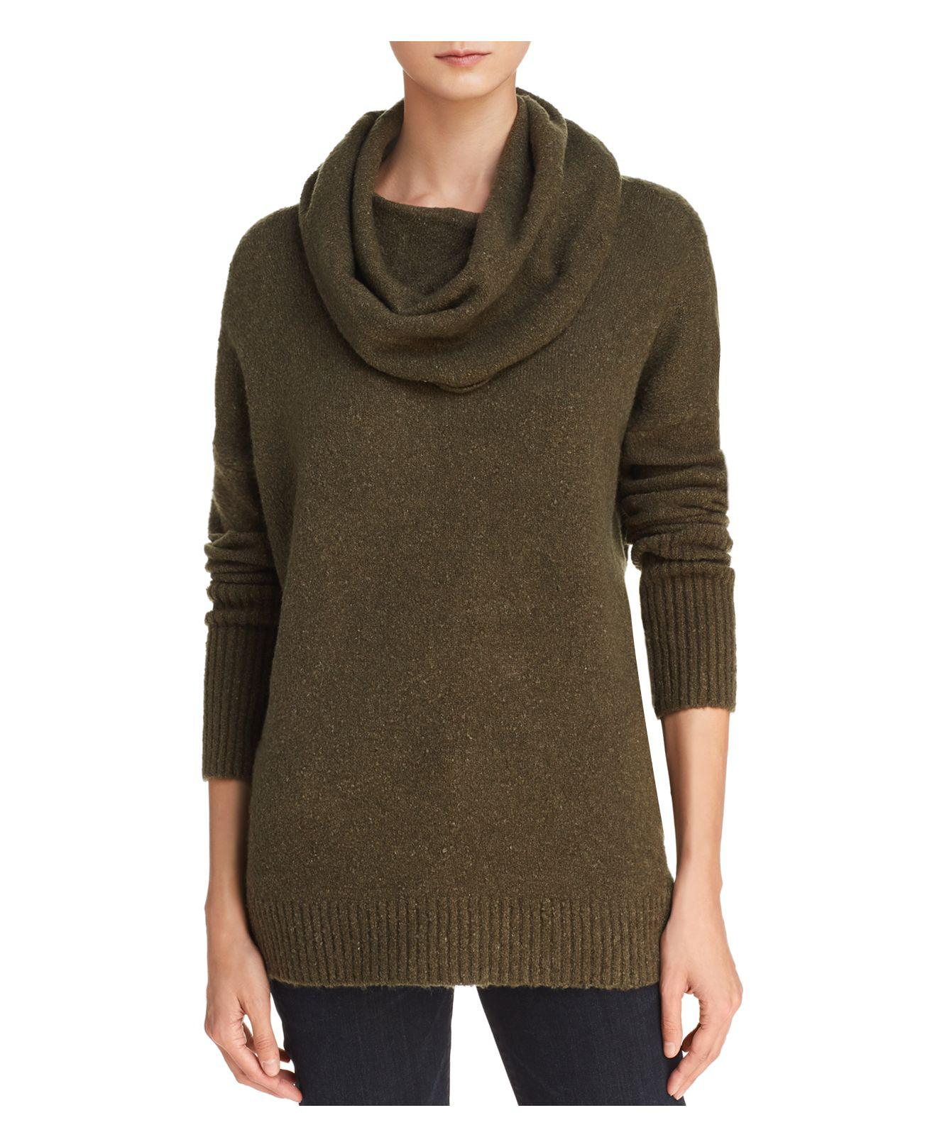 French connection Weekend Cowl Neck Ribbed-trim Sweater in Green ...