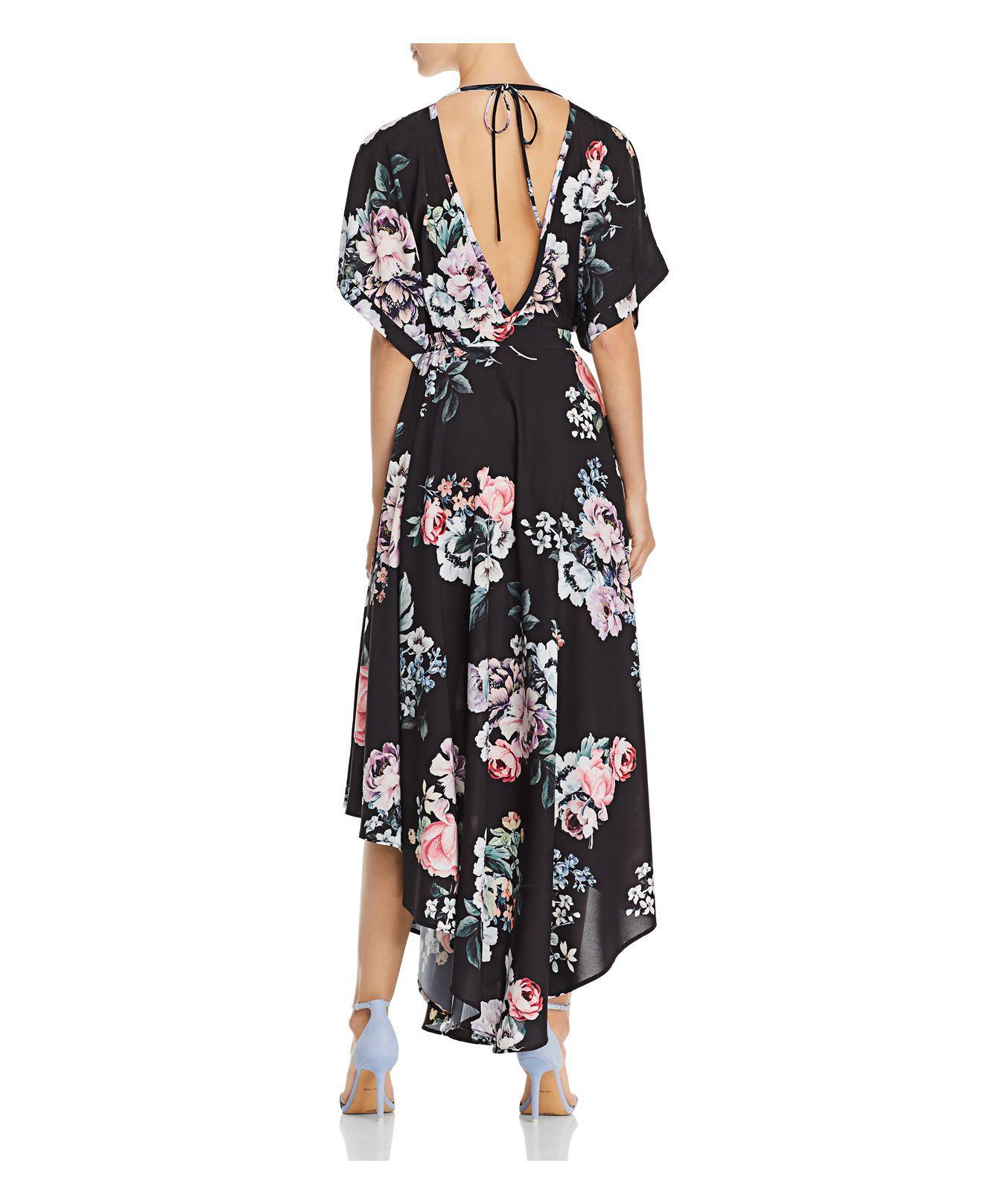 Yumi Kim Dominica Floral-print Dress in Black