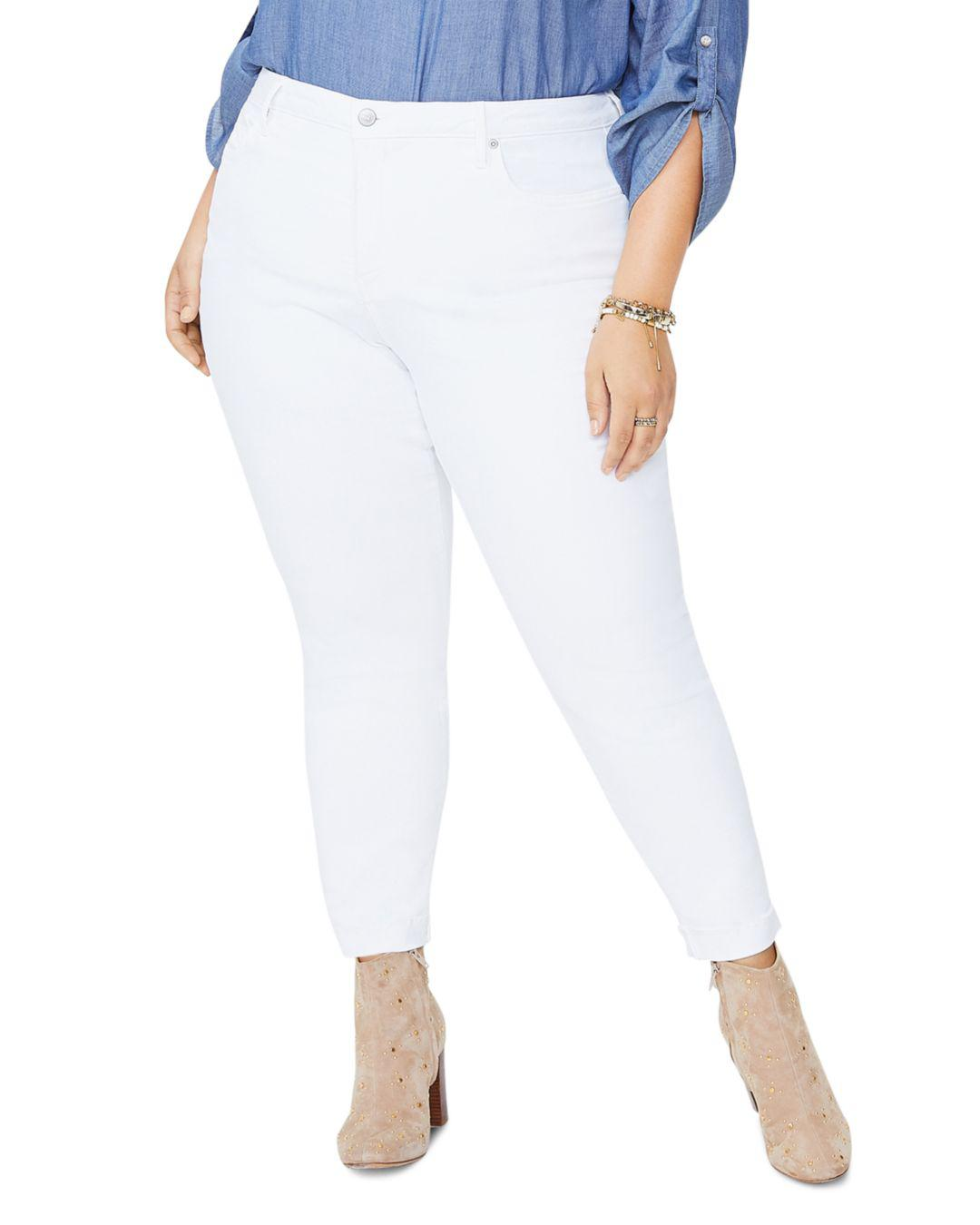 5a505a8f6fd31 Lyst - Nydj Ami Ankle Skinny Jeans In Optic White in White