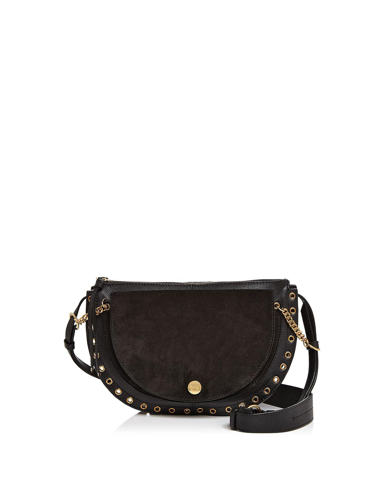 Kriss Small Crossbody Bag in Black Grained Cowskin and Suede See By Chlo Wv7QLK