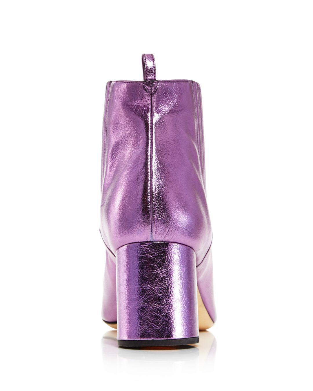 59fc0adbd277 Marc Jacobs - Purple Women s Rocket Round Block Heel Chelsea Booties -  Lyst. View fullscreen