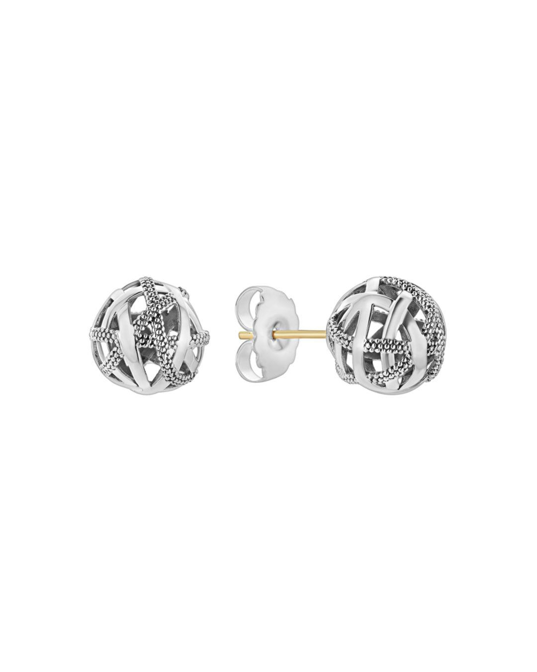 Womens Lagos Signature Gifts Beaded Ball Stud Earring pictures