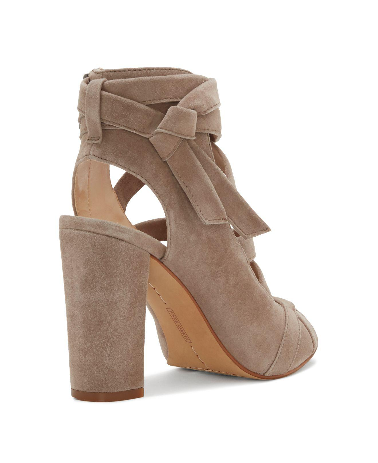 Vince Camuto Suede Sammson Crisscross Strappy High Heel