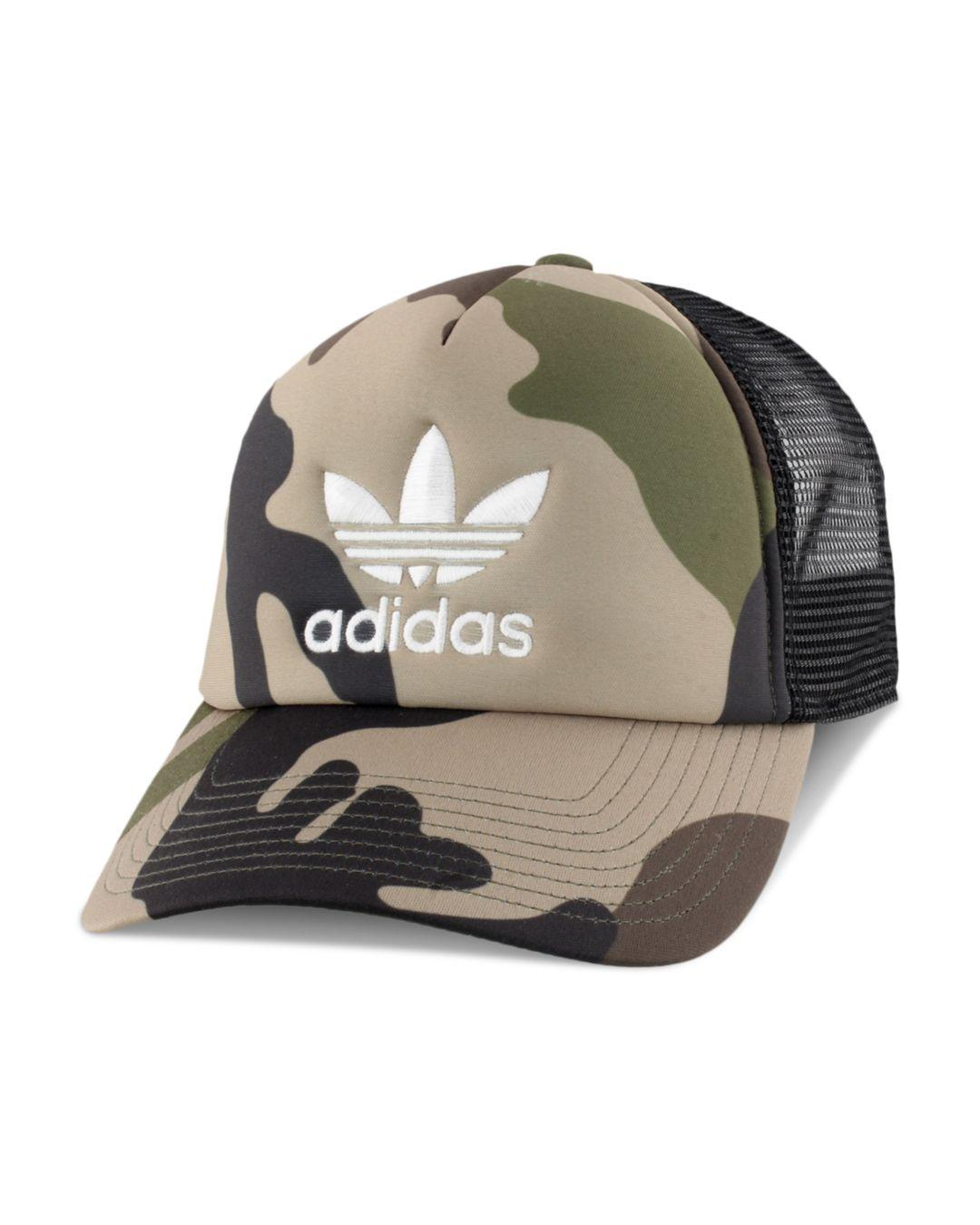 9e92765f9cb08 Adidas Originals - Green Camouflage-print Trucker Hat for Men - Lyst. View  fullscreen