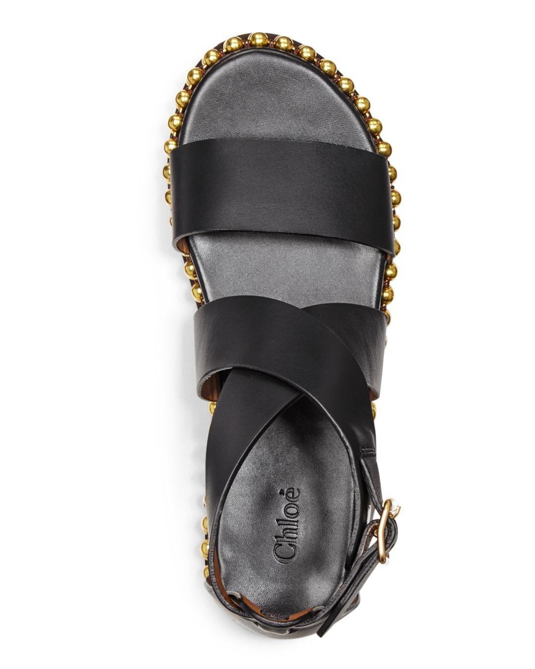 Sawyer Studded Leather Flatform Sandals