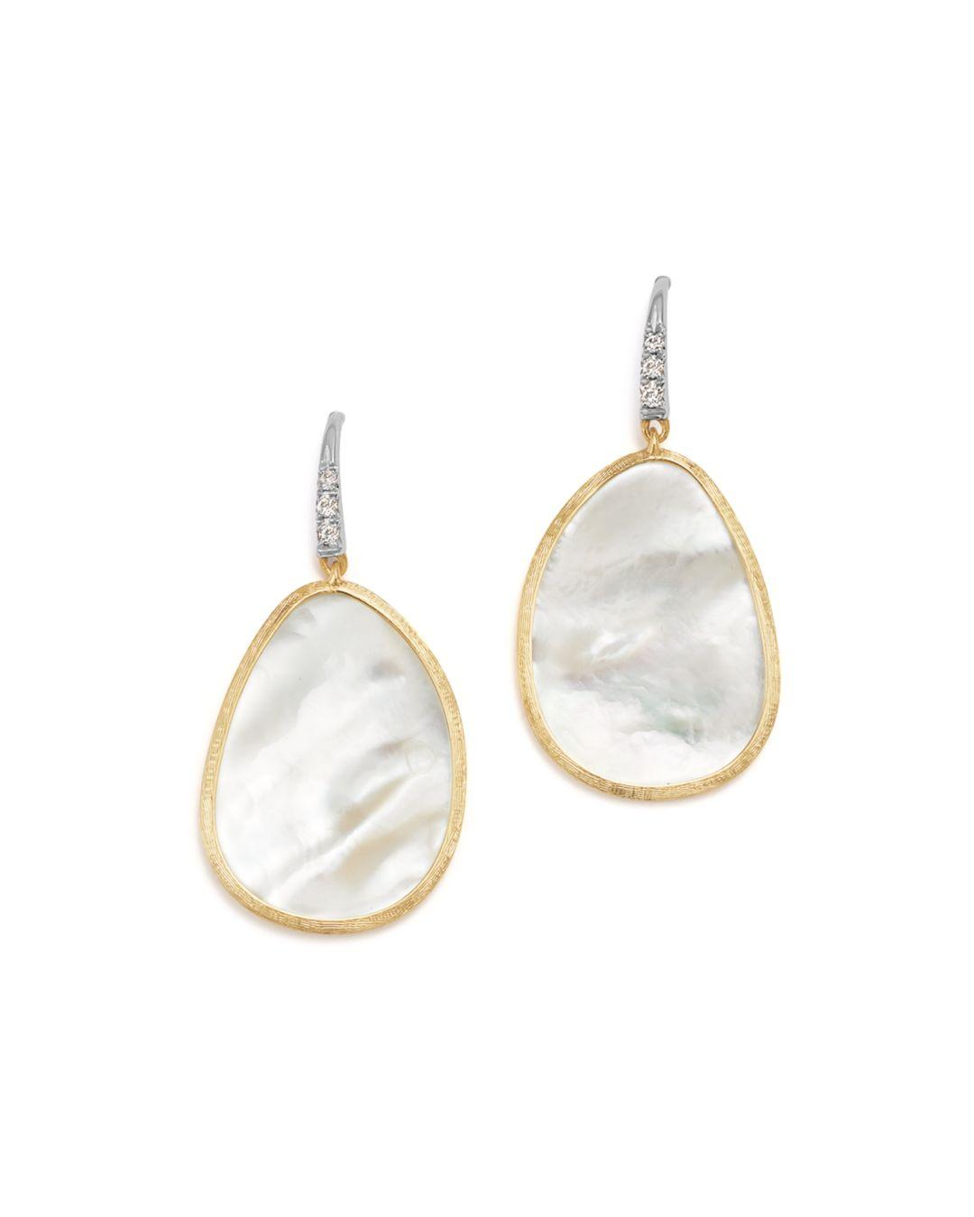 7e85f5f58dbcf7 Marco Bicego 18k White & Yellow Gold Lunaria Mother - Of - Pearl ...