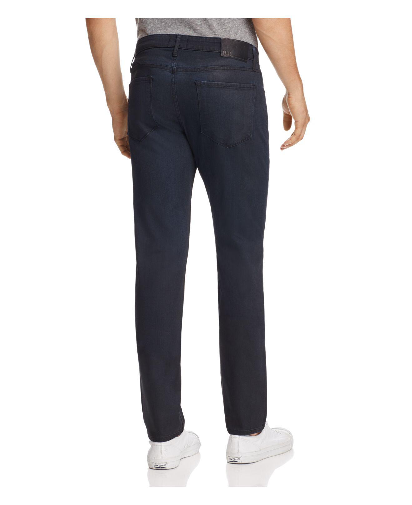 PAIGE Denim Lennox Skinny Fit Jeans In Rowan in Blue for Men