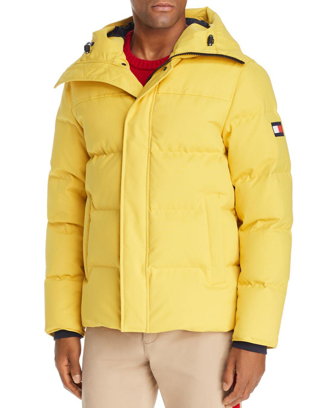 Tommy Hilfiger Quilted Puffer Jacket In Yellow For Men Lyst