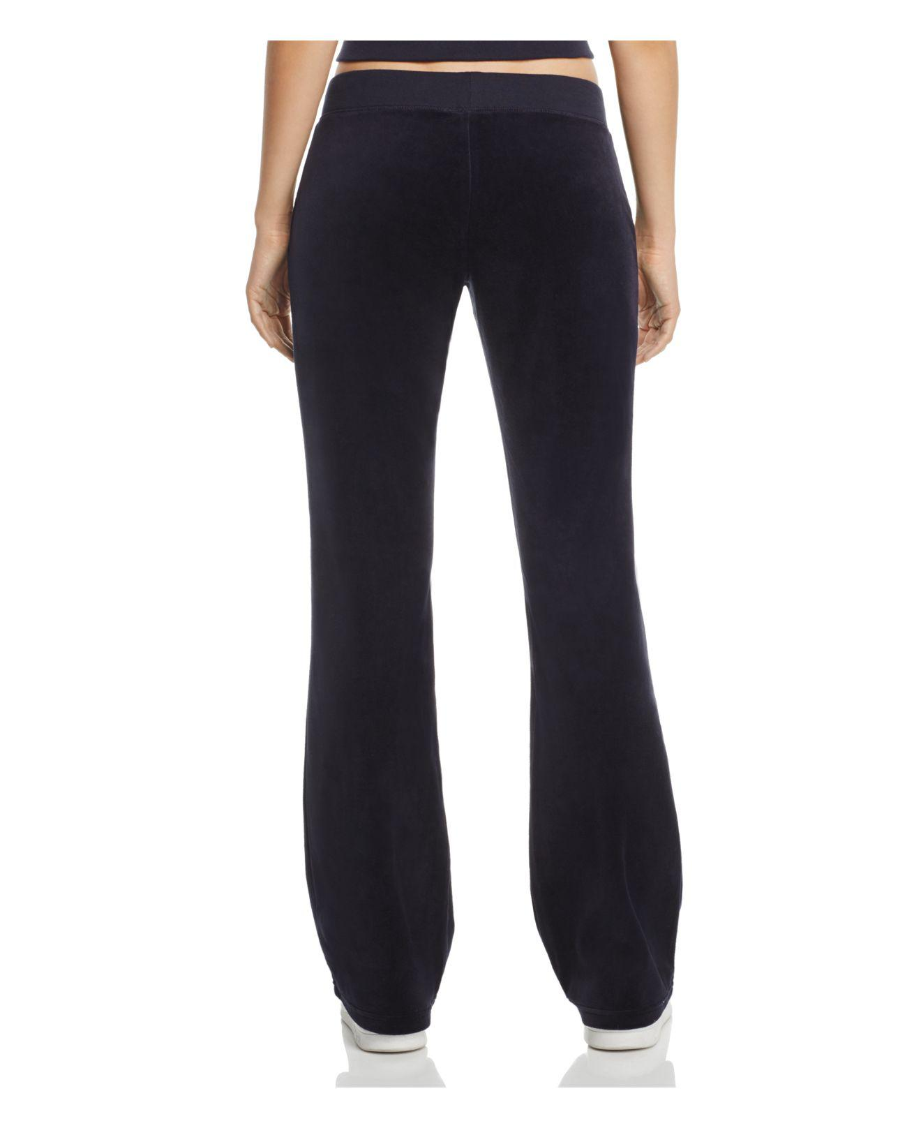 Juicy Couture Del Rey Ii Velour Track Pants In Blue Lyst
