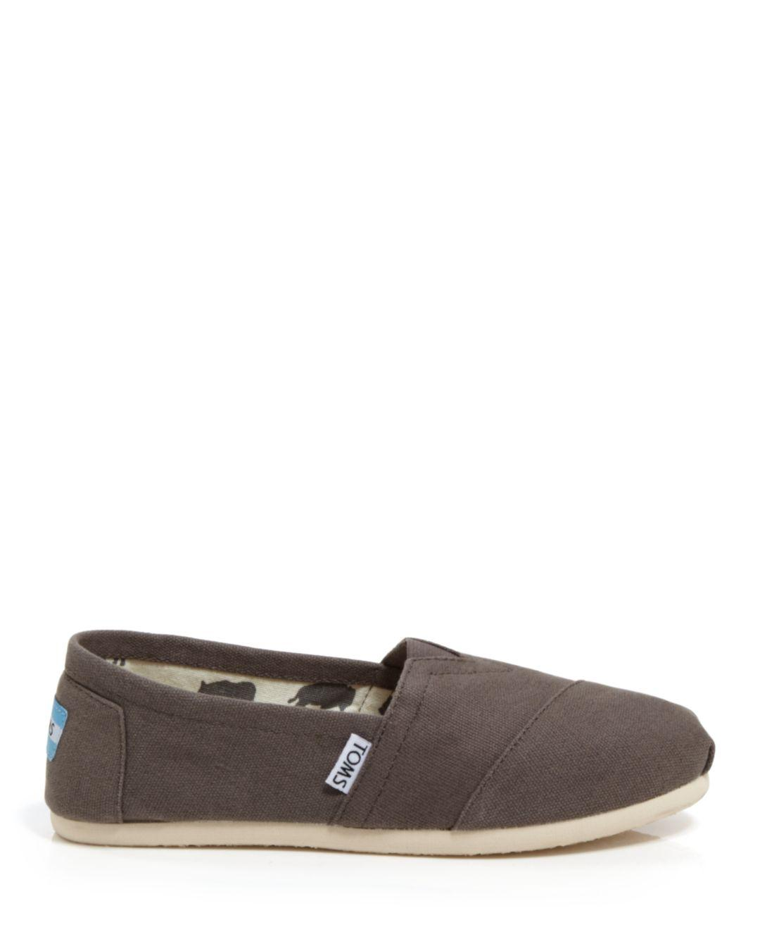 d37702dc233 Lyst - TOMS Women s Classic Canvas Slip-ons in Black