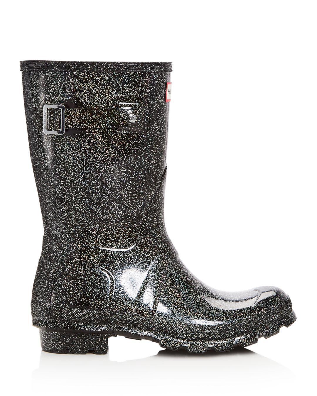 Women S Original Short Starcloud Glitter Rain Boots