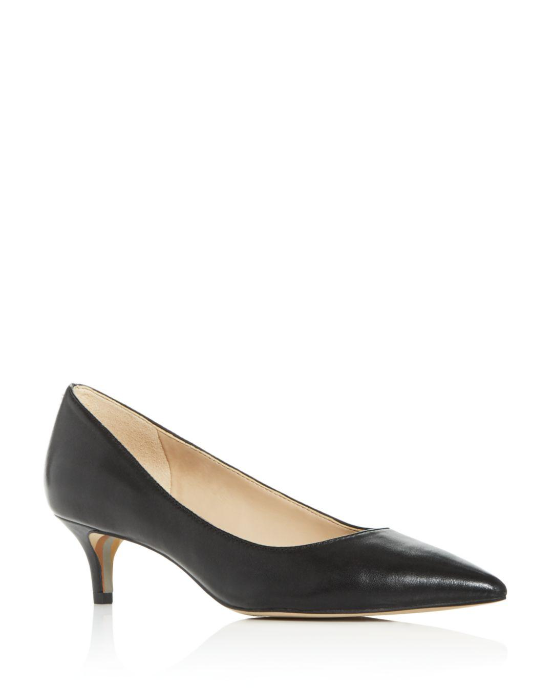 69d4ec48500 Sam Edelman Women's Dori Kitten - Heel Pumps in Black - Lyst