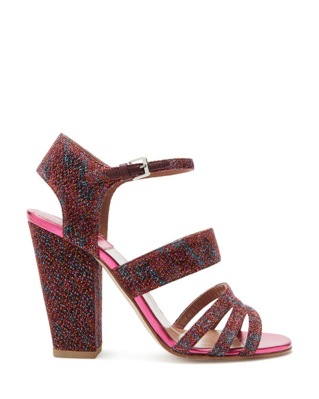 9174d6a85dec7 Lyst - Laurence Dacade Women s Ninon Multicolor Metallic Ankle Strap Sandals