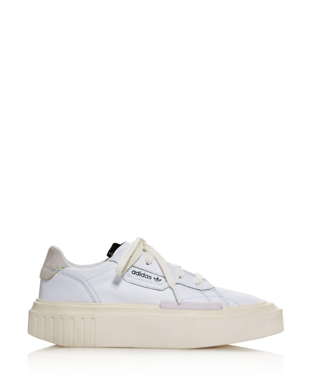 8c5d0caf8 adidas Hypersleek Leather Platform Sneakers in White - Lyst