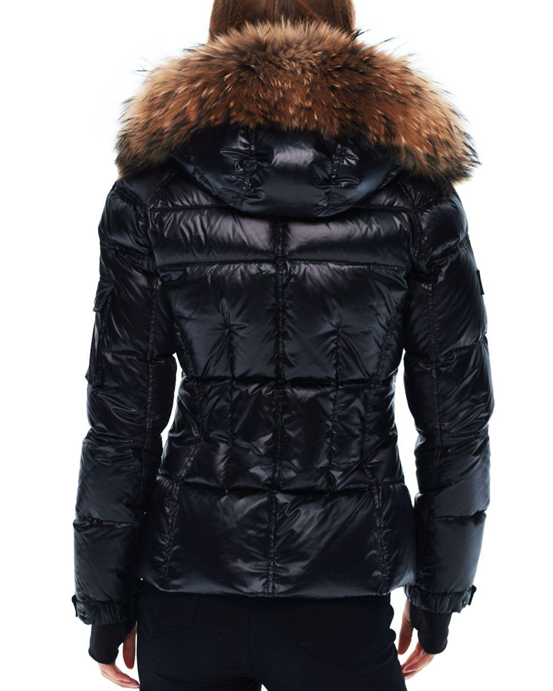 58f36d792ef3 Sam. Blake Fur-trim Down Coat in Black - Lyst