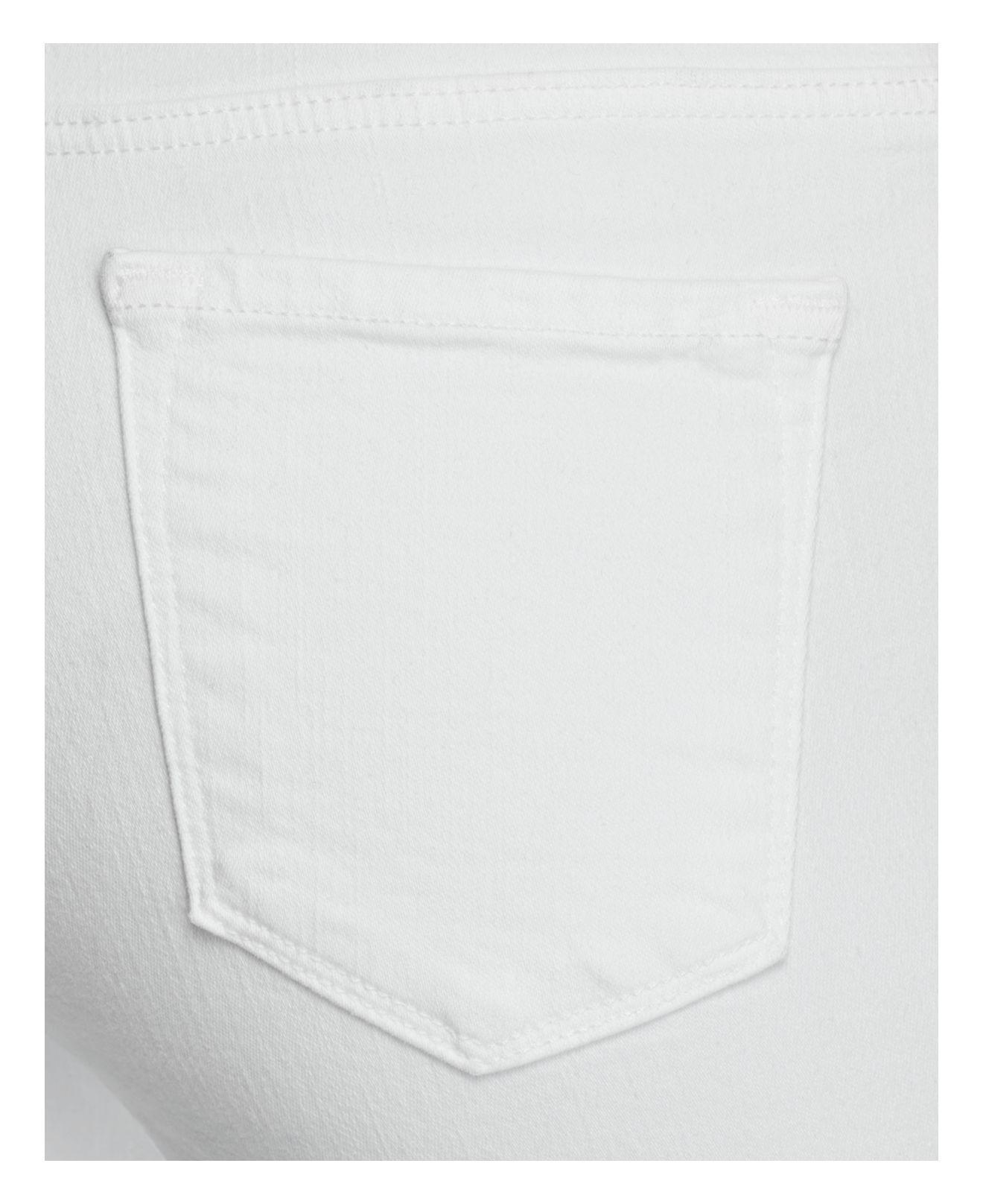 J Brand Denim Mama J Skinny Maternity Jeans In Blanc in White