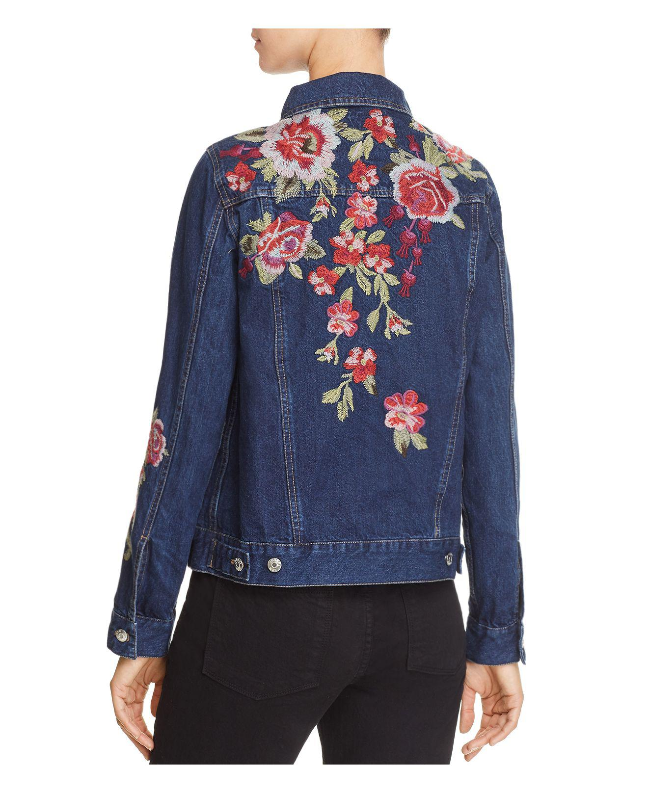 NWT Johnny Was Desi Denim Embroidered Jean Denim Jacket Floral  XXL $278
