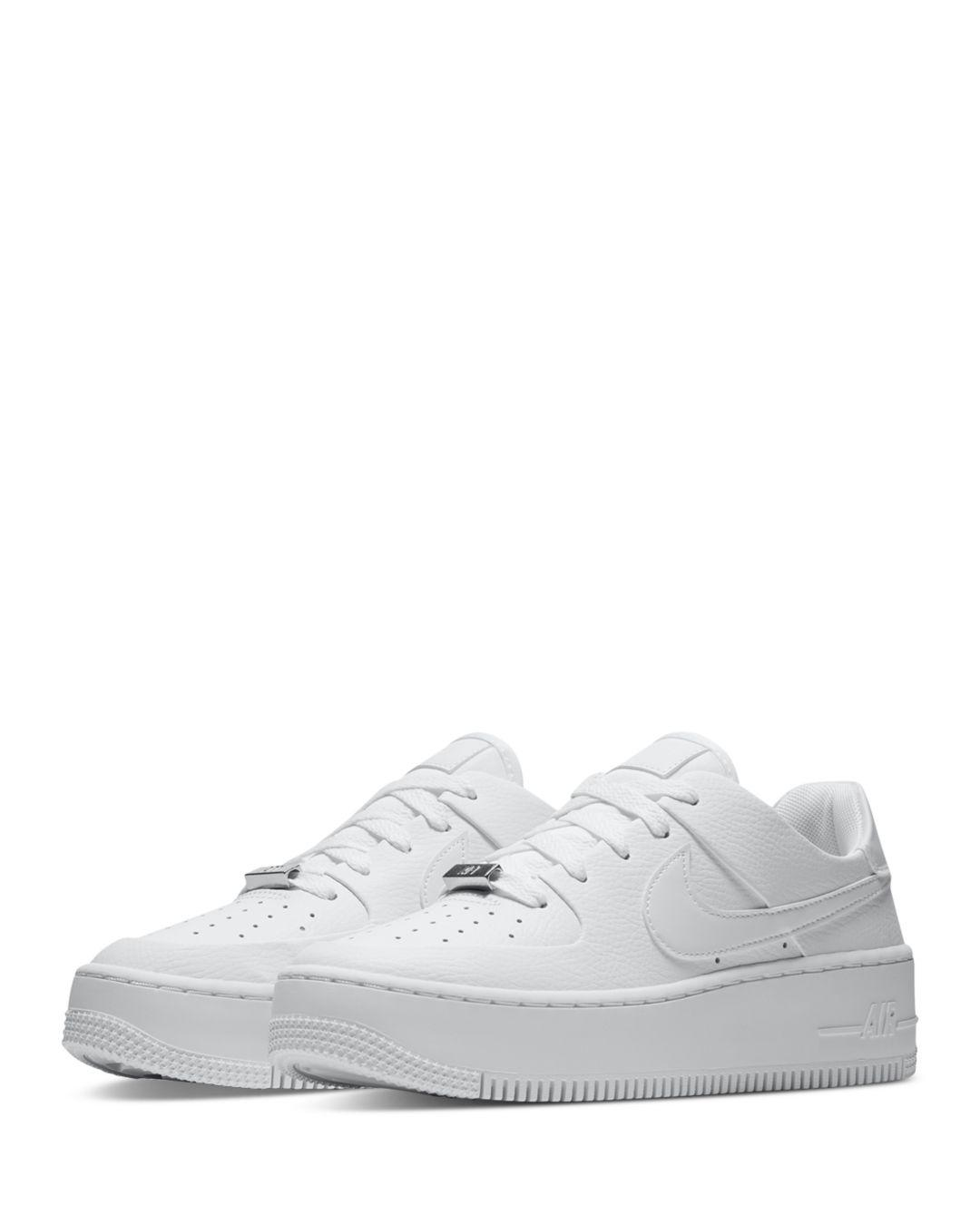 Nike Suede Air Force 1 Sage Low - Top Sneakers in White/White ...