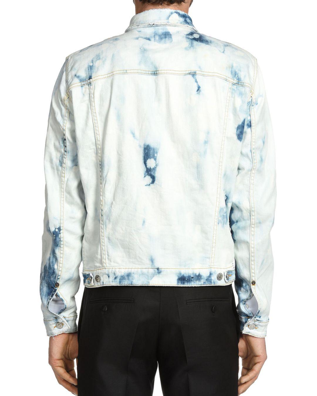fff00404a24 Lyst - DSquared² Dane Bleached Tie-dye Jean Jacket in Blue for Men