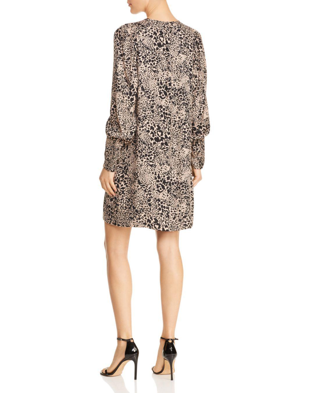 77c9c68d461 Lyst - Rebecca Taylor Hidden Leopard Jacquard Dress Champagne