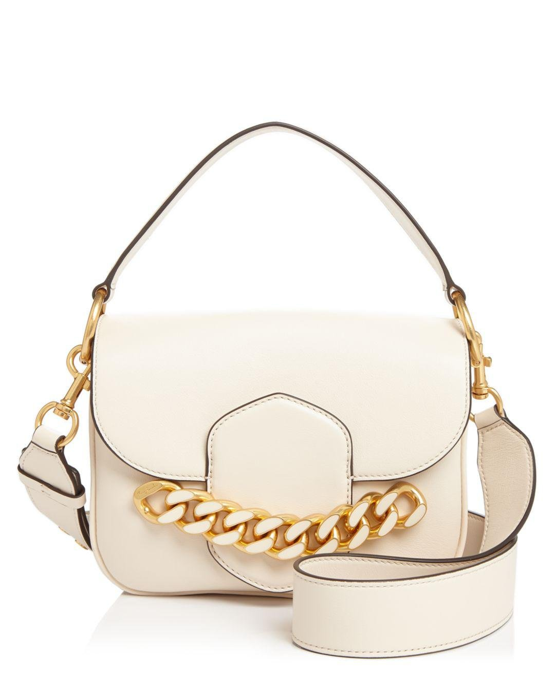 e97e5f2aa56b Lyst - Tory Burch Jessie Chain-embellished Leather Satchel in Metallic