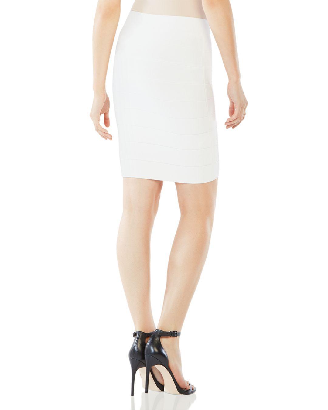 7bc6697f8 BCBGMAXAZRIA Alexa Knit Essential Pencil Skirt in White - Lyst