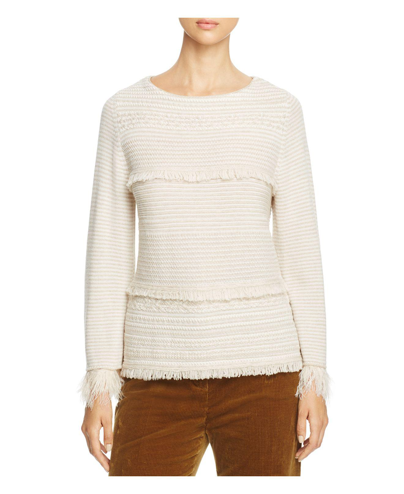 feather trimmed sweater - Pink & Purple Max Mara Limited Edition For Sale 100% Authentic Sale Online Outlet Store For Sale I0b3pIjC0f