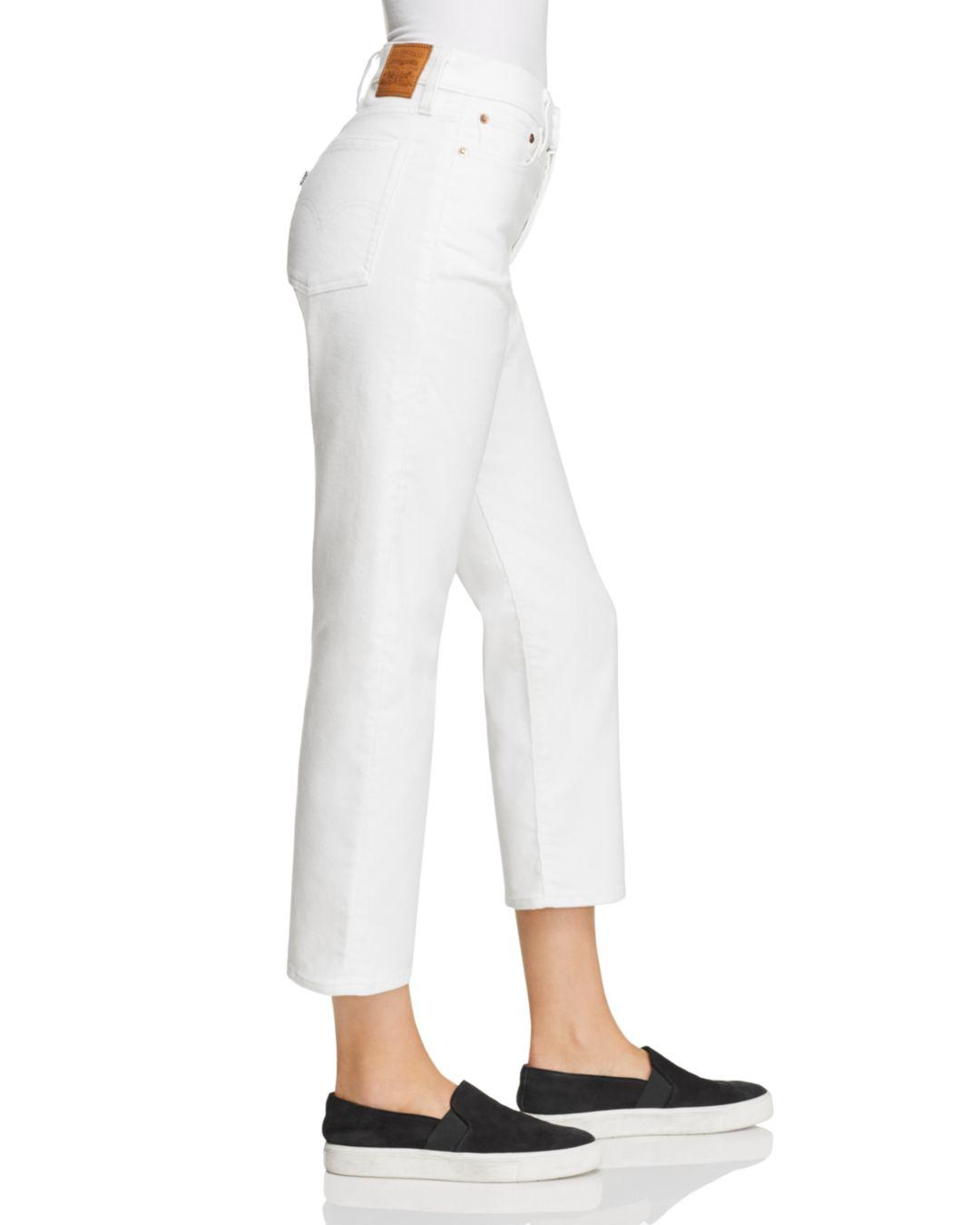 Lyst Levi S Wedgie Straight Corduroy Jeans In Marshmallow In White