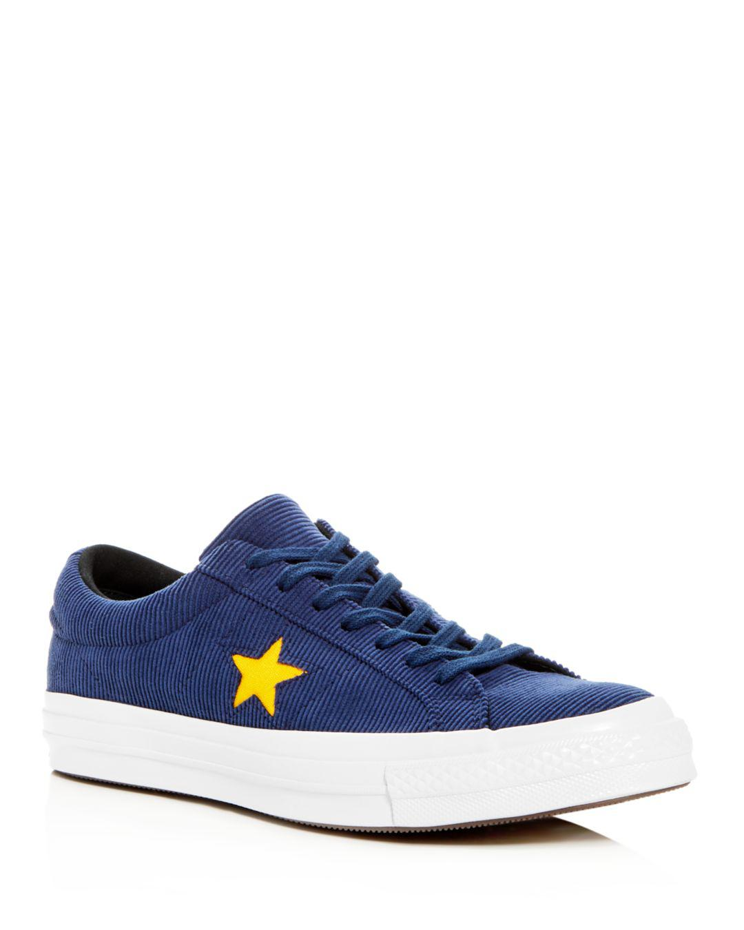 f2347fa315ab Converse Men s One Star Lace-up Sneakers in Blue for Men - Lyst