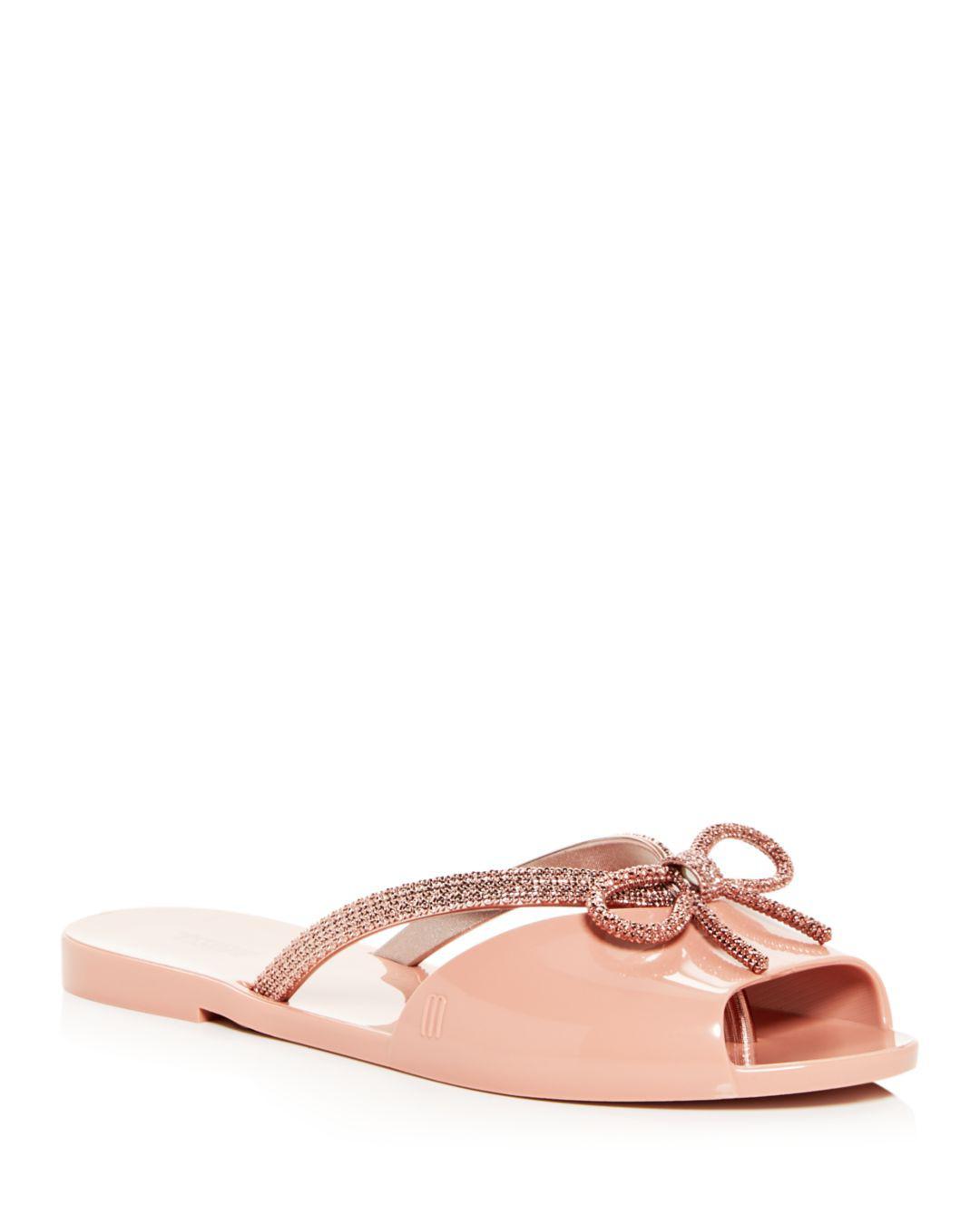ce60f61ab37e39 Melissa Women s Ela Chrome Slide Sandals in Pink - Lyst
