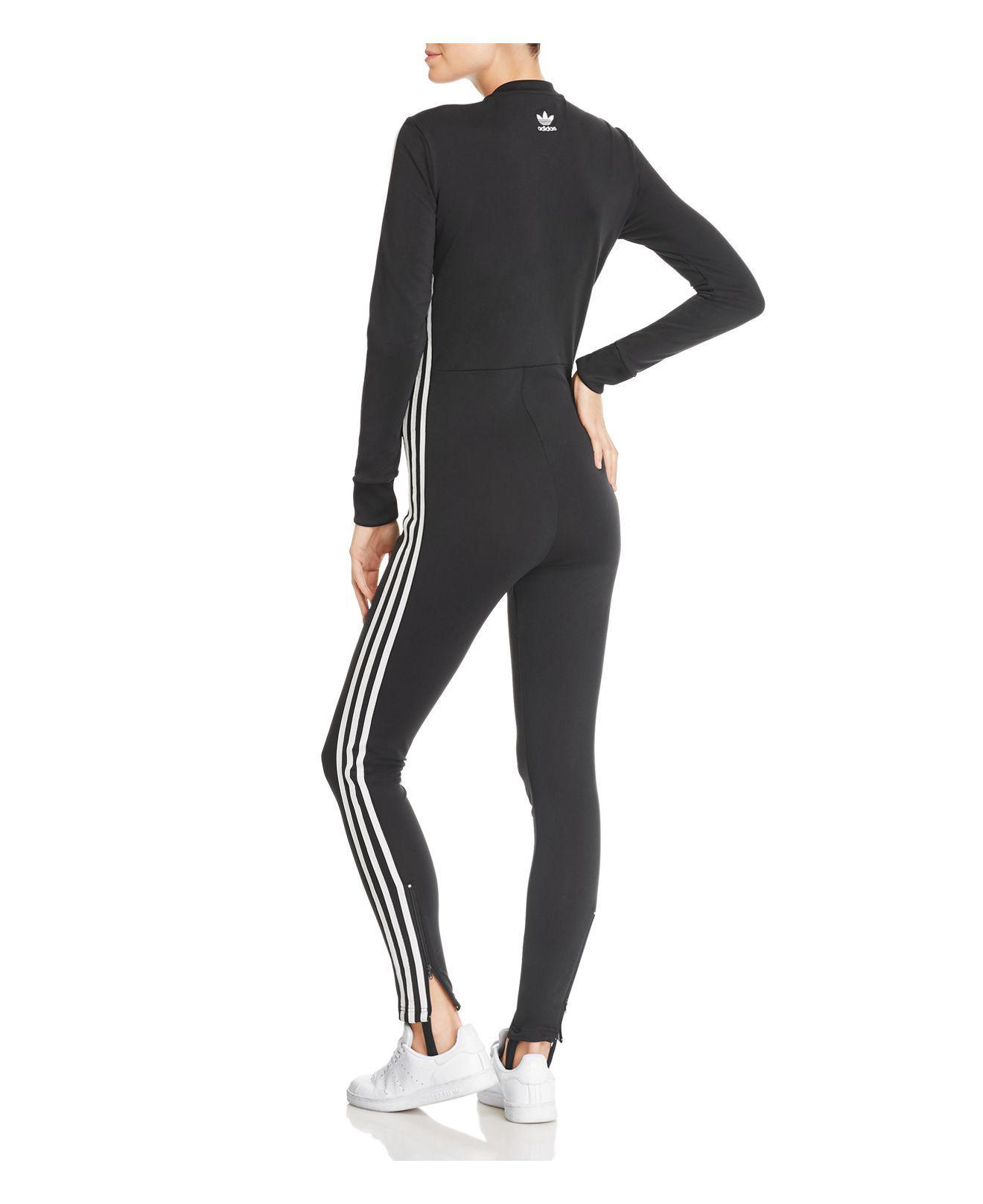 ecad93c3bc0 Lyst - adidas Originals Adicolor Jumpsuit in Black