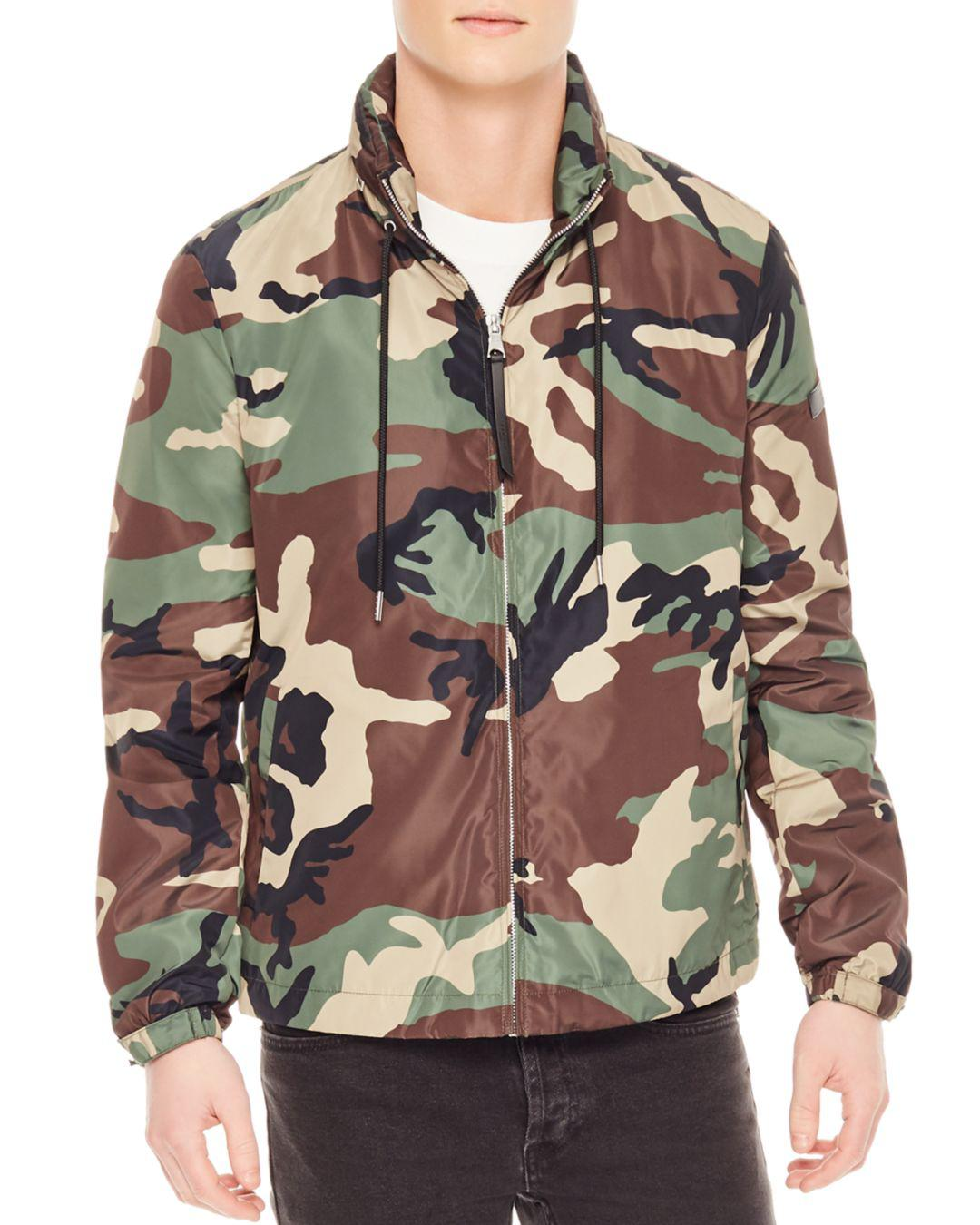 fea818b6cb1fb Sandro Electric Camo Jacket in Green for Men - Lyst