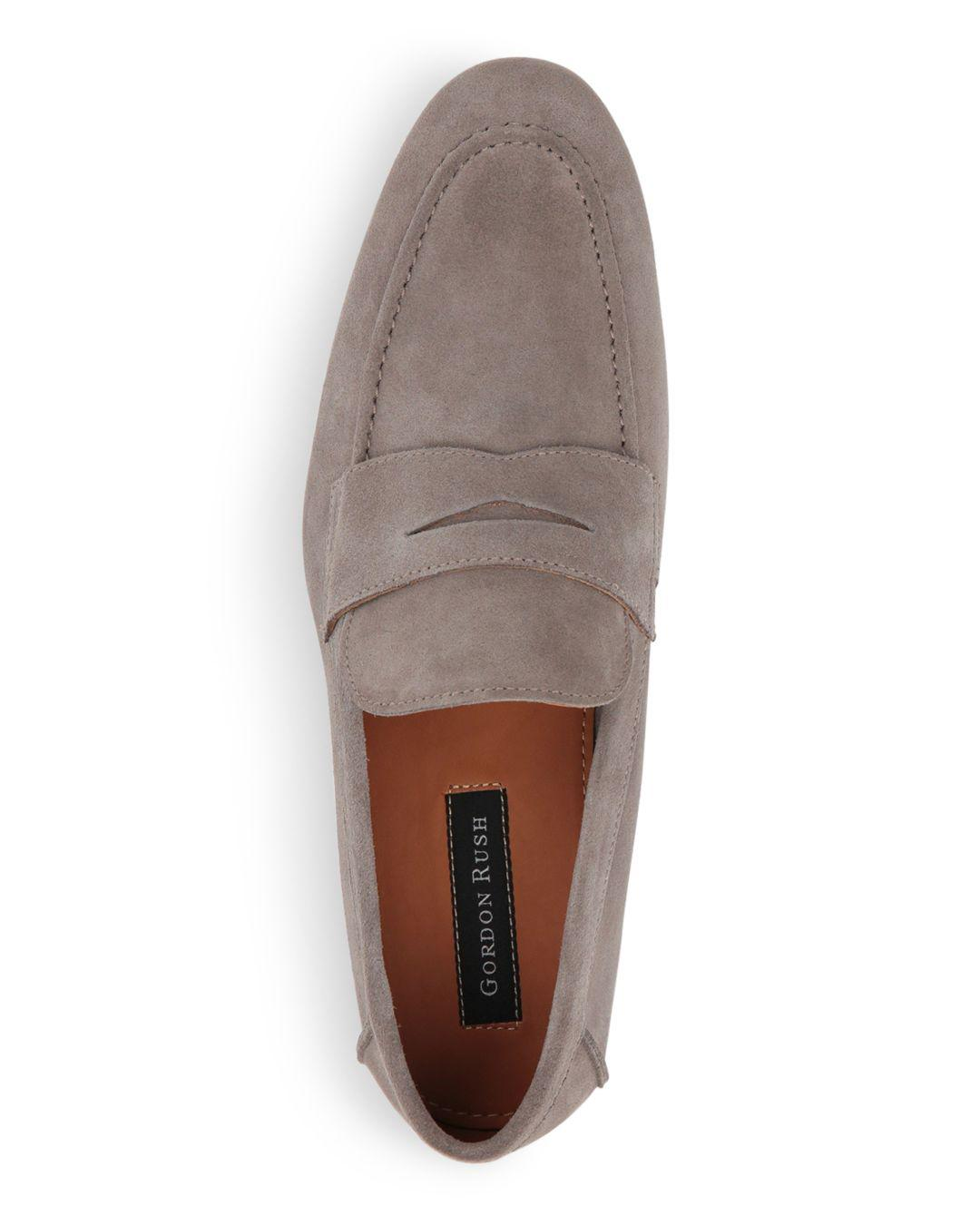 90b26bc0c17 Lyst - Gordon Rush Men s Wilfred Suede Apron Toe Penny Loafers in ...