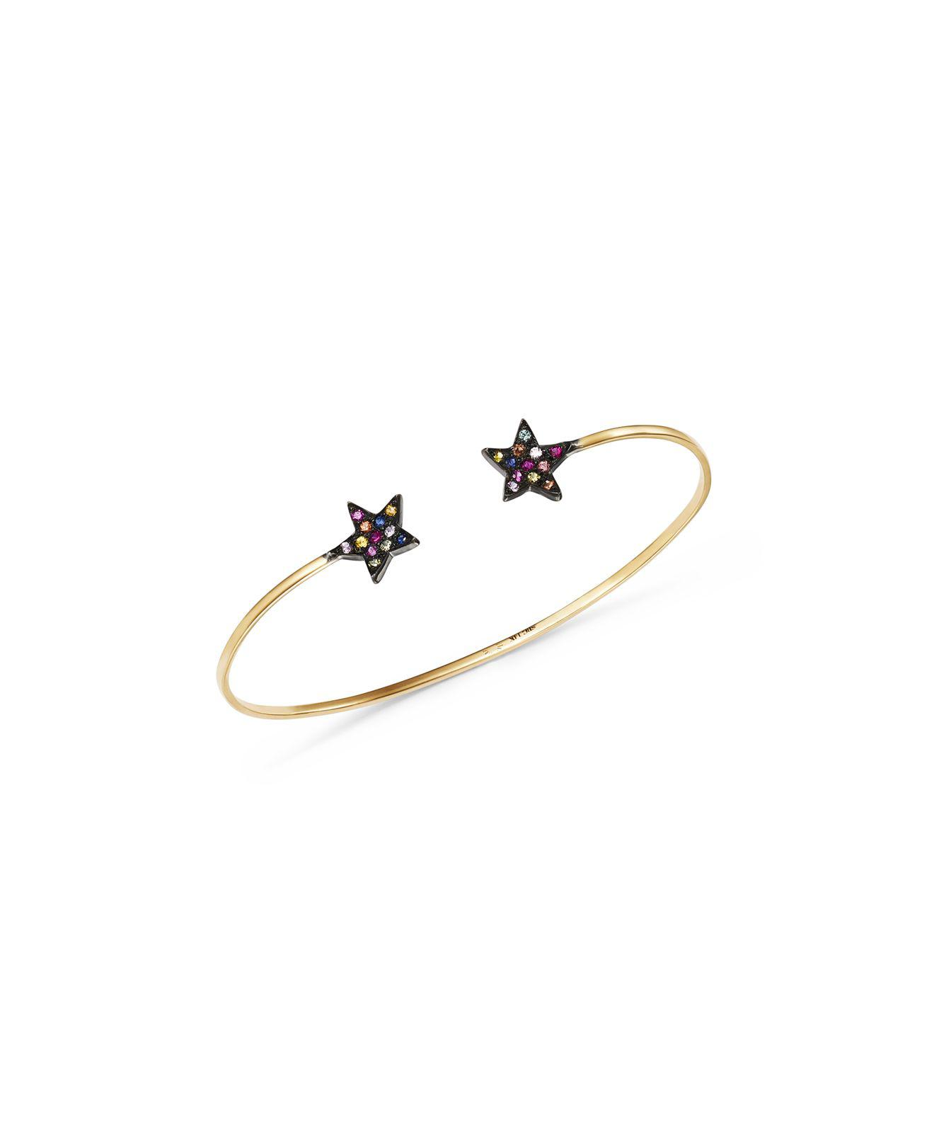 14K Gold and Sapphire Cuff Bracelet She Bee