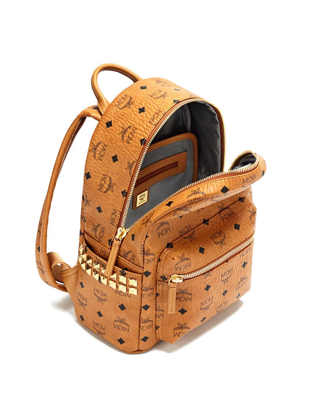 MCM Canvas Stark Side Stud Small Backpack