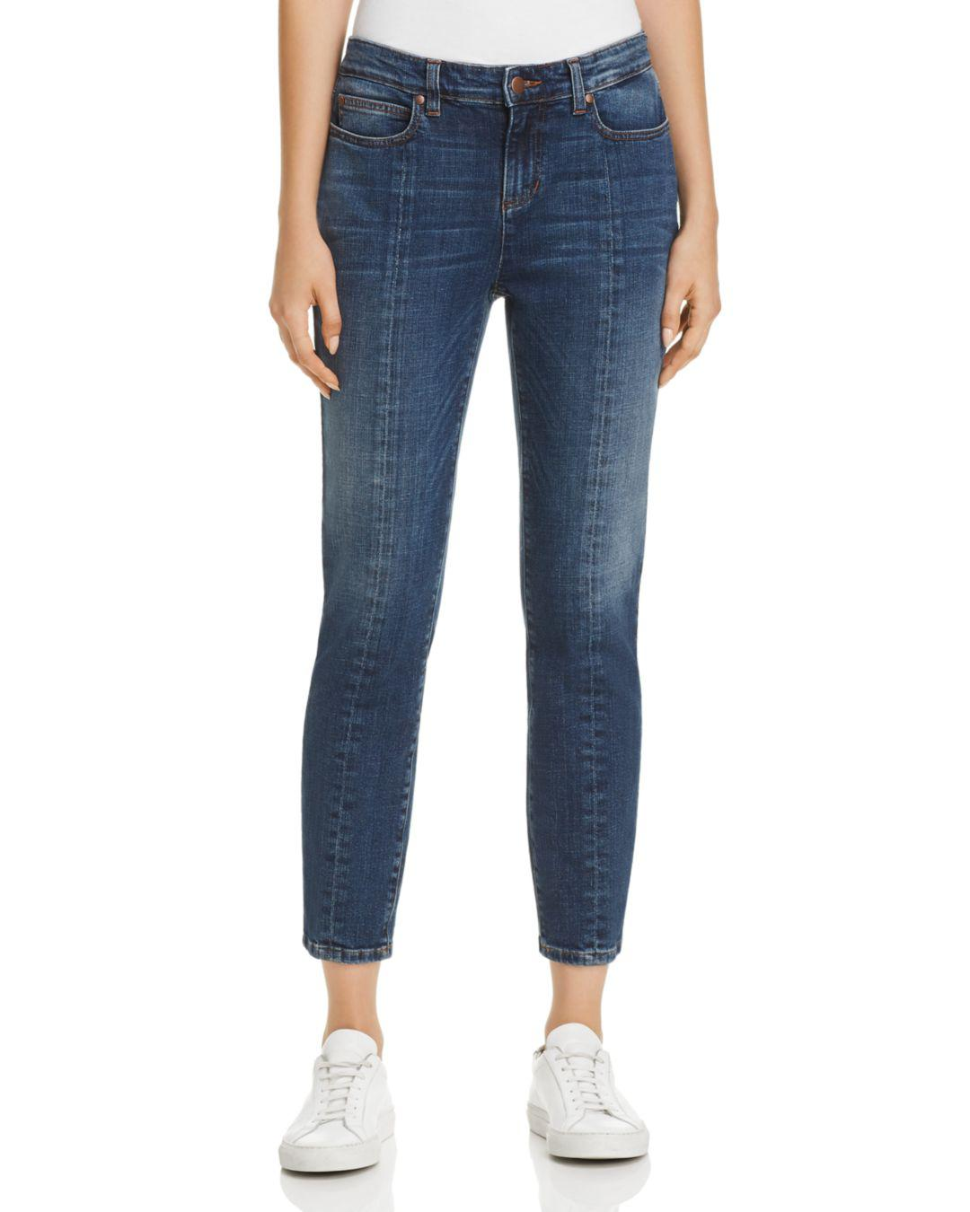 8c47863dcdcd5 Lyst - Eileen Fisher Seamed Crop Jeans In Aged Indigo in Blue