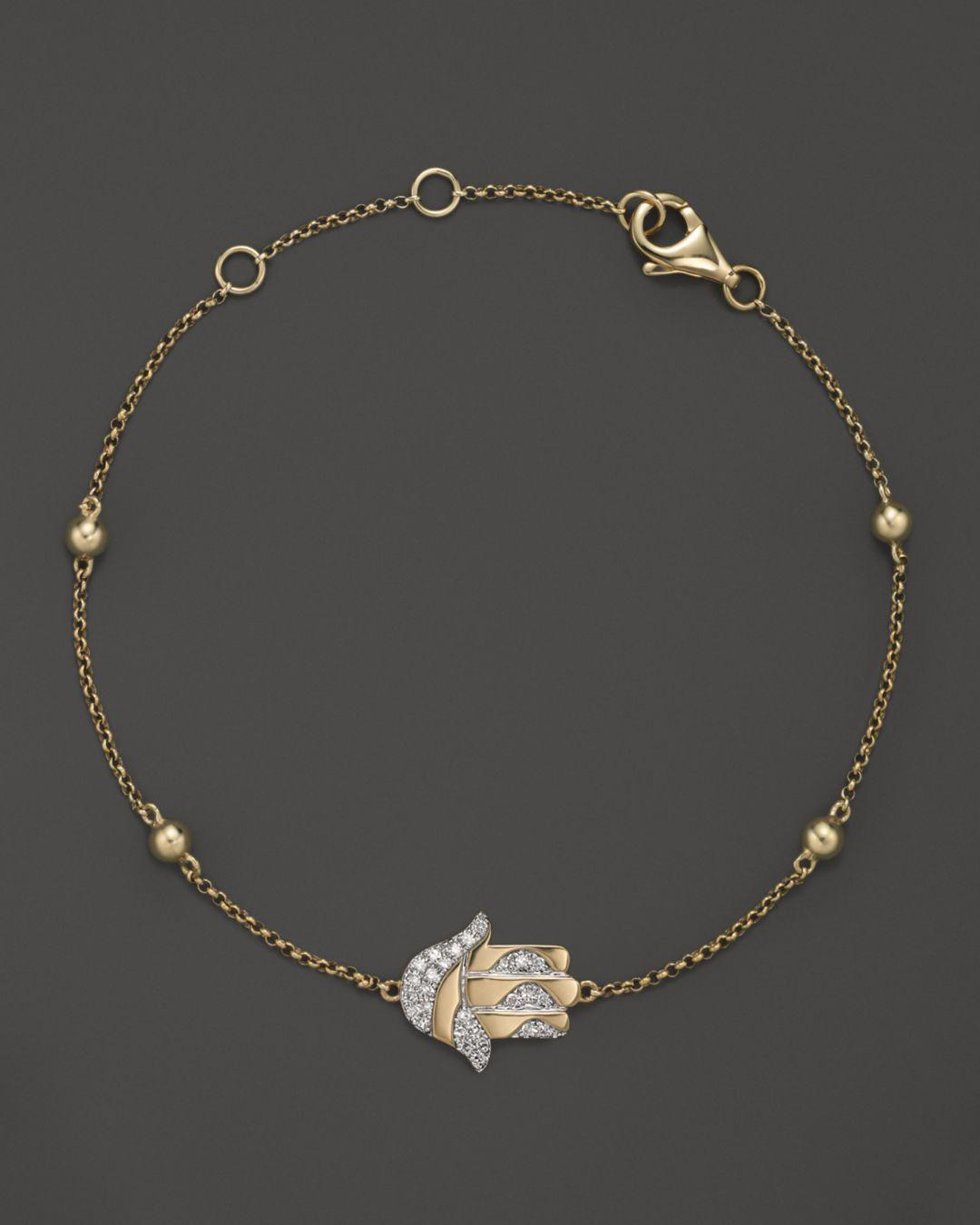 Bloomingdale S Diamond Hamsa Bracelet