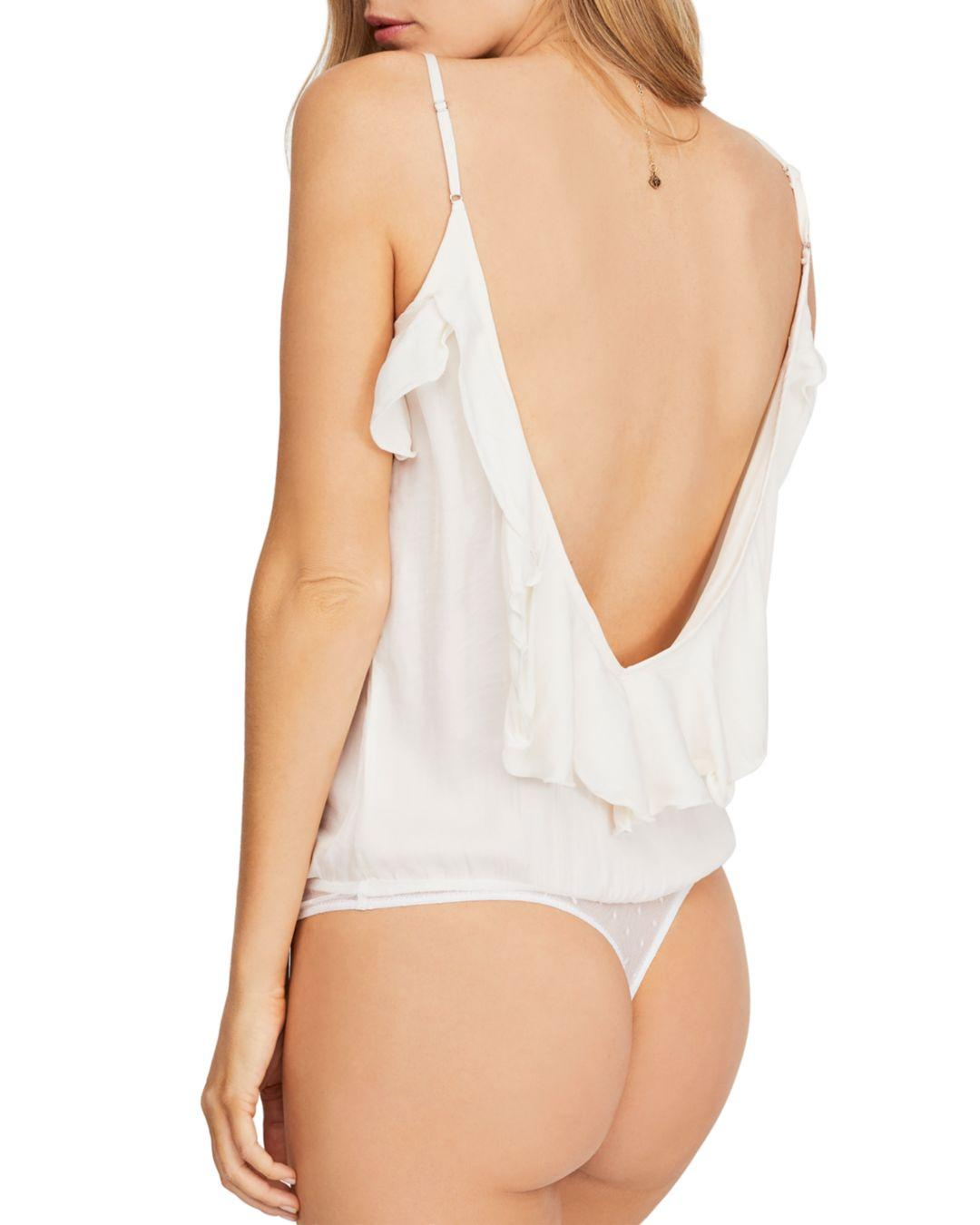 e4c49723eb Lyst - Free People Not Tired Ruffled Bodysuit in White