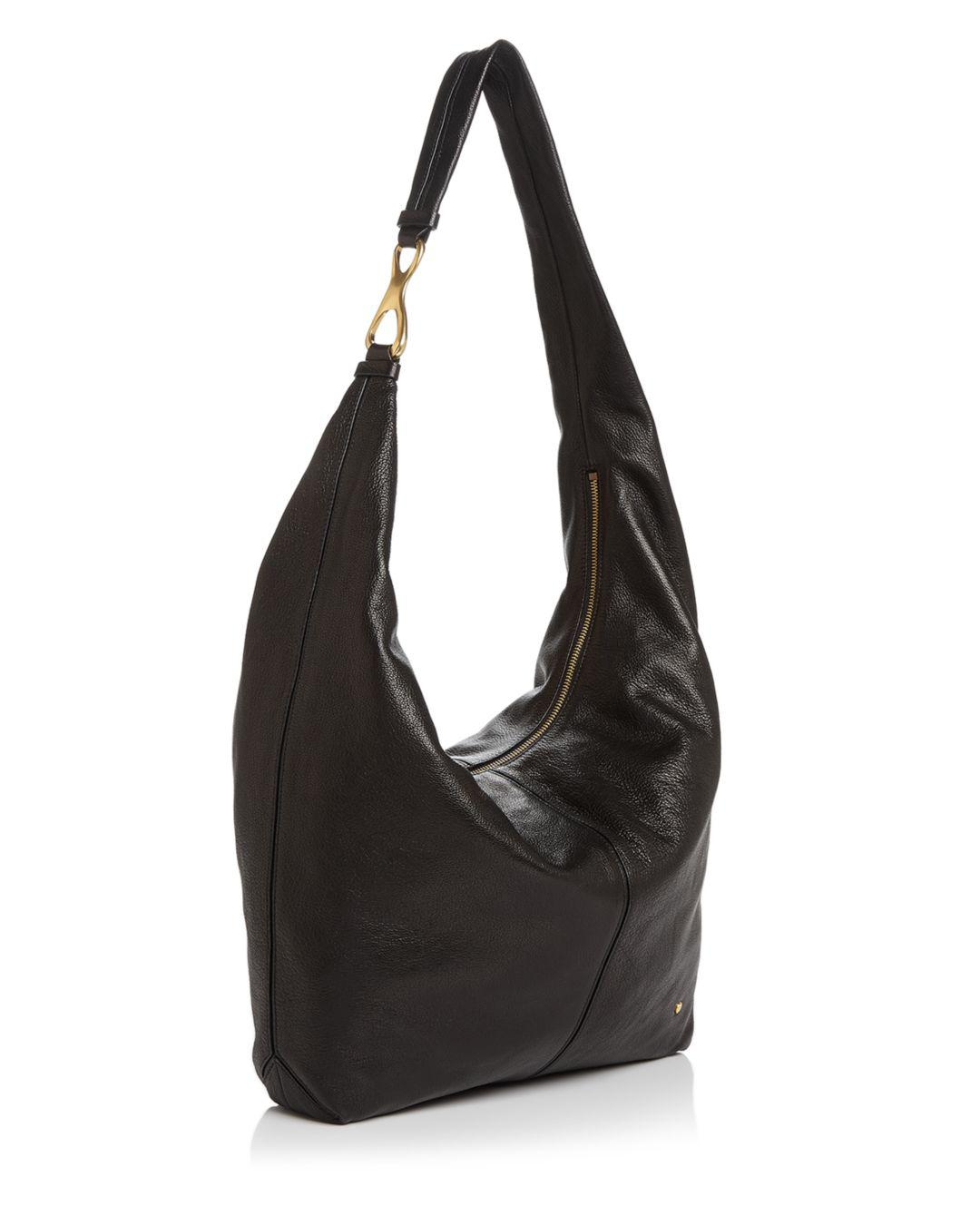 ee207cf63c51 Lyst - Halston Tina Slouchy Large Leather Hobo in Black