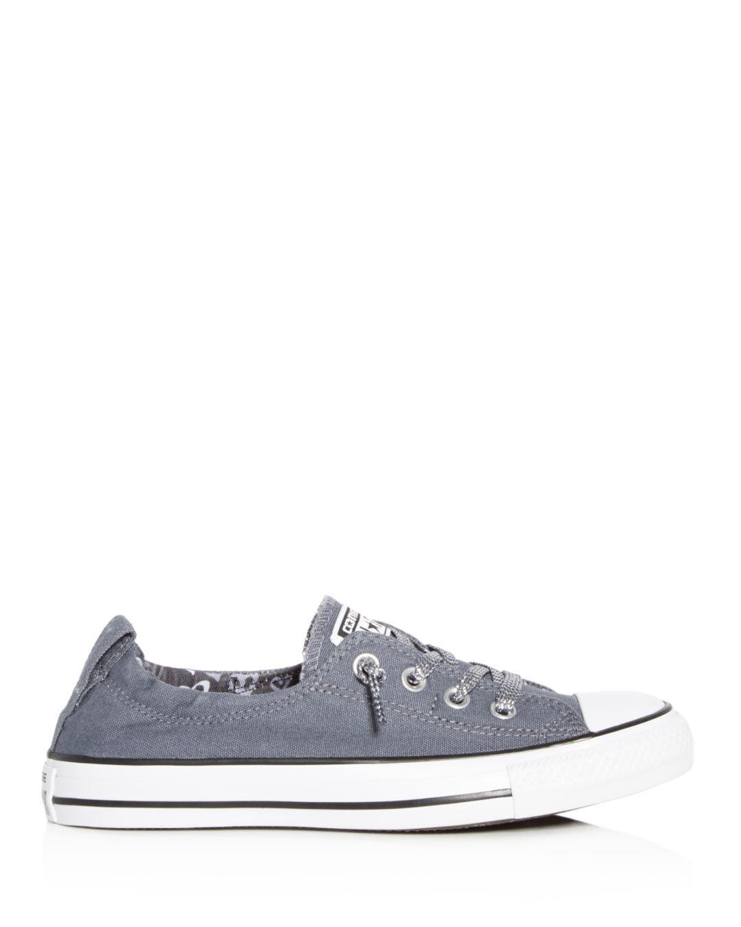 6e90a59644cb ... cheap converse womens chuck taylor all star shoreline slip on sneakers  in blue lyst ddf80 9514f