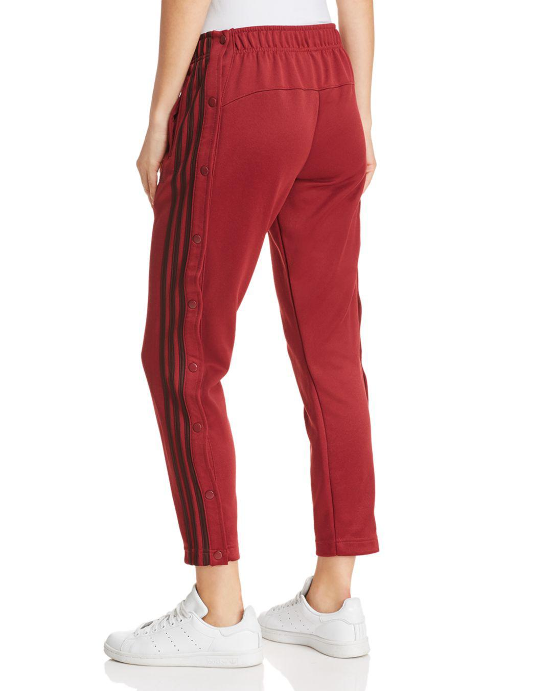 23fae5acdf5f Lyst - adidas Side-snap Ankle Track Pants in Red