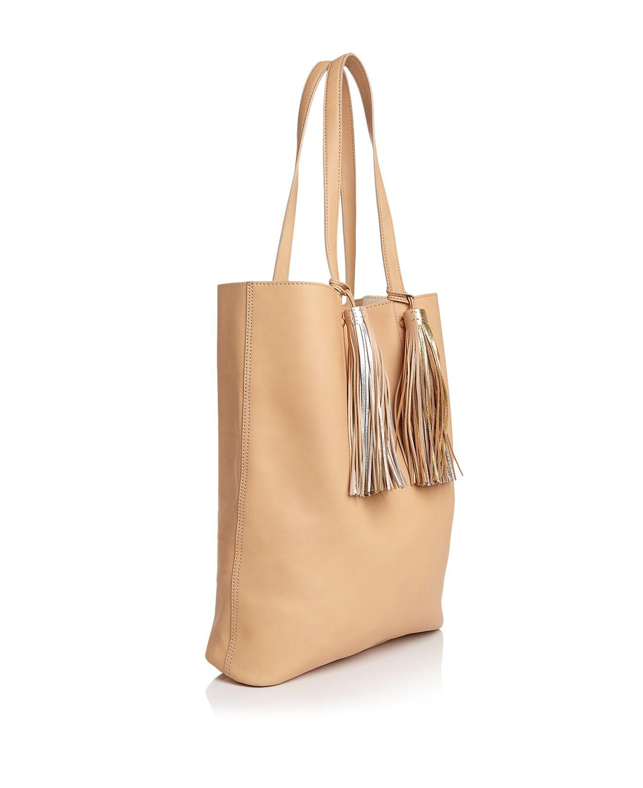 Loeffler Randall Leather Cruise Metallic Tassel Tote