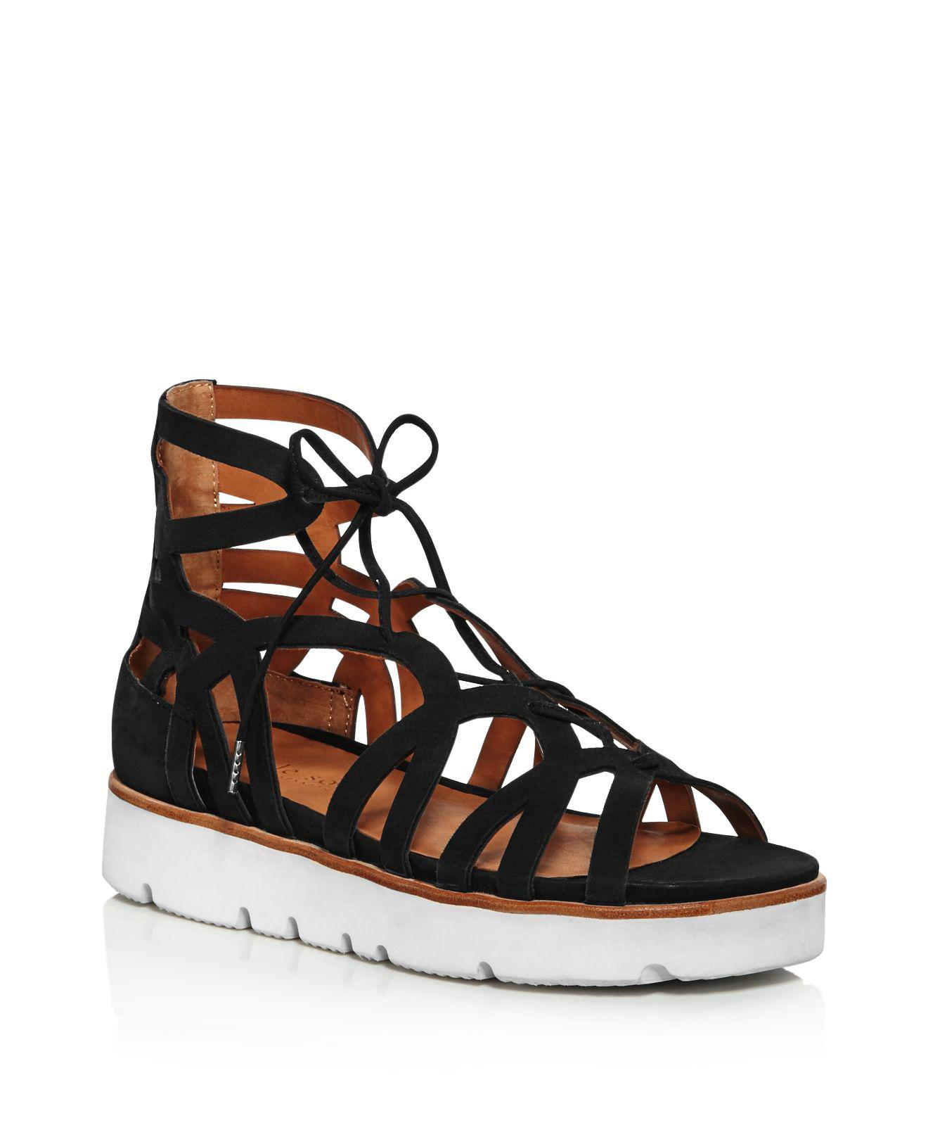 Kenneth Cole Gentle Souls Women's Larina Leather Gladiator Platform Sandals Official Cheap Price IFzejYbdyb